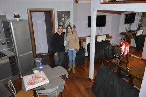 Interior do apartamento em Milão.